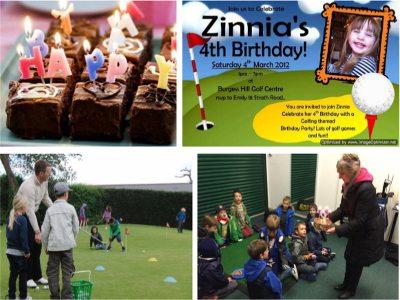 Childrens Birthday Golf Pictures