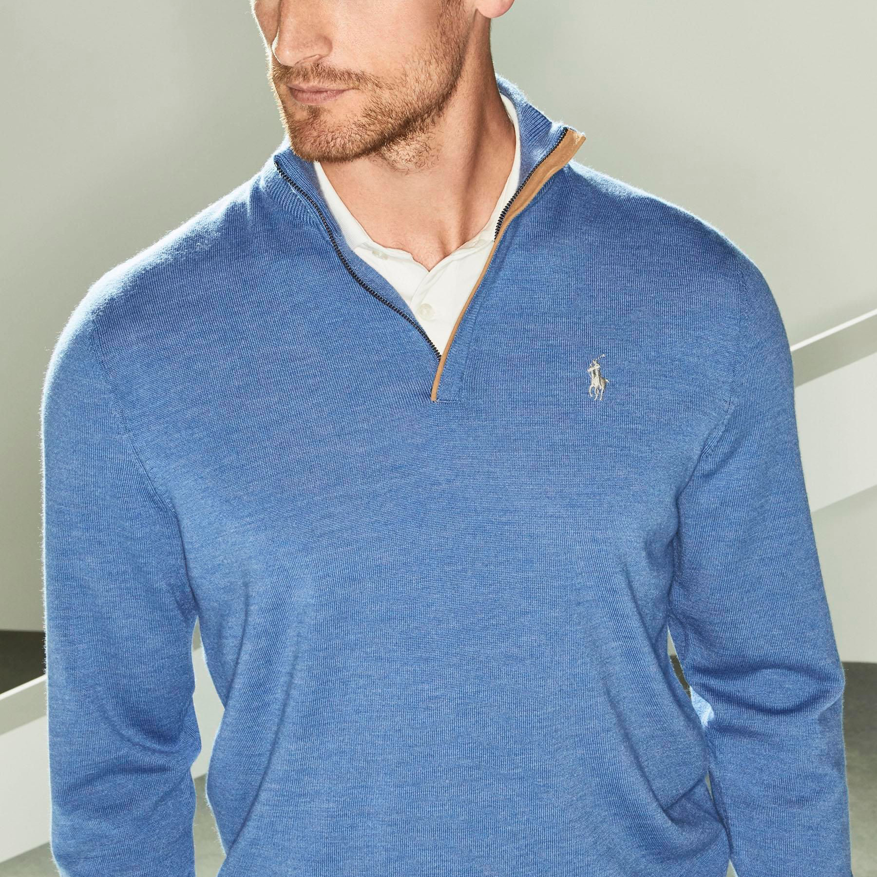 RL HZ Merino Wool Blue
